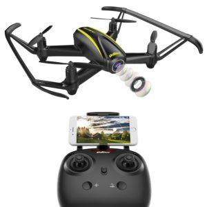 DROCON U31W Navigator Kids Drone navigateur pour Enfants avec Caméra HD (1280 x 720p) 120-Lentille Wi-FI FPV Quadracoptère avec Maintien d'Altitude & Mode sans Tête pour Les Débutants