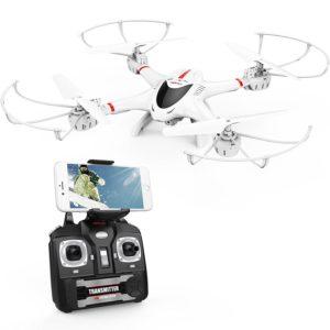 Drone avec Caméra DBPOWER X400W WIFI FPV Quadricoptère Vidéo en Temps Réel Compatible avec Casque VR Quad-coptère Stable et Facile à Contrôler Pour Les Enfant et Pour S'entraîner