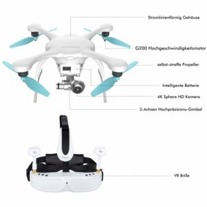 EHANG Ghost Drone 2.0 VR Android Blanc