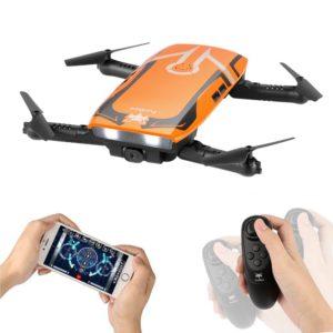 Furibee Pliable Mini Drone Télécommande Quadcopter, H818 WiFi FPV Drone avec Camera HD, Mini RC Quadcopter RTF pour Les Enfants, Débutants, Adultes