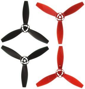 Hélices (2 Rouges - 2 Noires) pour Parrot Bebop 2