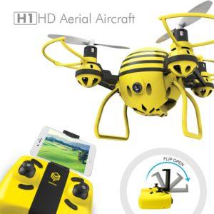 HASAKEE H1 Quadcopter 2.4Ghz 6 Axes Gyroscope RC Drone avec Caméra HD FPV,Télécommande & APP,Mode sans Tête et Mode de Maintien en Altitude,Bon pour les débutants, les enfants.