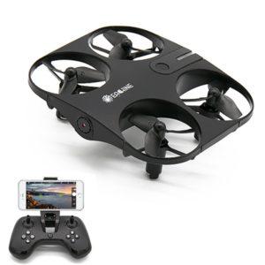 Mini drone avec caméra et écran vidéo temps réel, EACHINE E014 WIFI FPV Mini drone avec caméra HD 720p Drone de poche - Technologie de flux optique - Mode d'Altitude maintenu, détections de mouvement pour débutant et amateur