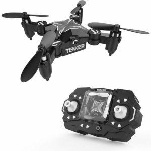 TENKER Skyracer Mini hélicoptère RC Drone pour les enfants, Quadracoptère avec maintien de l'altitude, flips 3D, mode sans tête et décollage