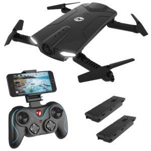 pliable RC Drone avec caméra, Saint Pierre Hs160 Shadow FPV Poche Drone HD 720p Wifi Camera Flux vidéo en direct 2,4 GHz 6 axes Gyro Quadcopter pour enfants et débutants,