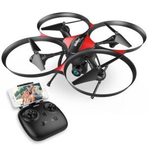 udirc DROCON Drone Helicoptère télécommandé U818PLUS caméra HD anti-vibration 1280 x 720P Mode sans Tête Mode Hold Altitude Convient pour les débutants