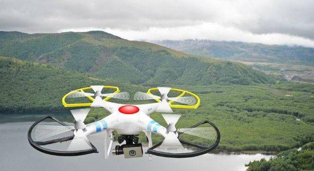 video drone nature